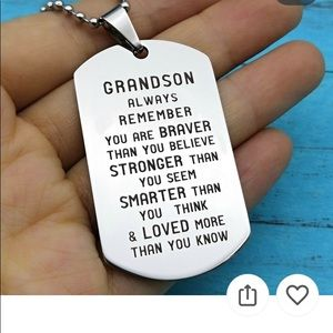 Jewelry - Grand Daughter Dog Tag & Chain